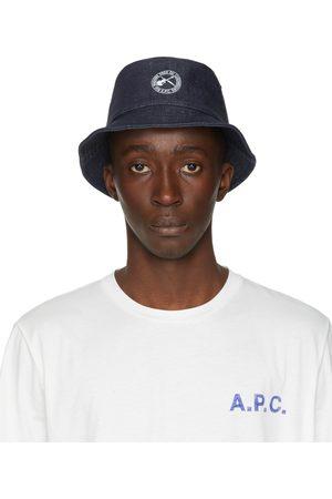 A.P.C. Indigo Denim Guitar & Dagger Alex Bucket Hat