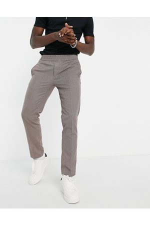 River Island Smart joggers in heritage check