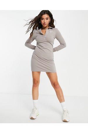 Reebok Bodycon mini dress in oatmeal