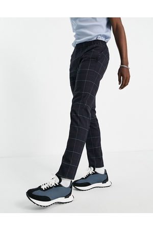 River Island Smart joggers in & red check