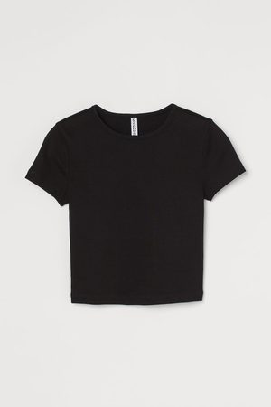 H & M Ribbed cropped top