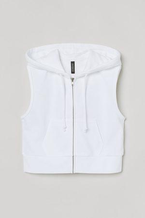 H & M Sleeveless zip-through hoodie