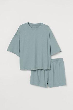 H&M Women Pyjamas - Ribbed pyjamas - Turquoise