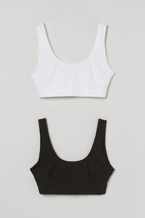 H&M Women Bras - 2-pack cotton bra tops