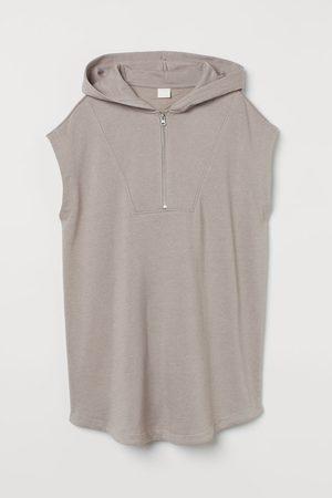 H&M Women Tank Tops - Sleeveless hoodie - Grey
