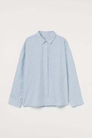 H&M Women Pyjamas - Cotton pyjama shirt - Turquoise