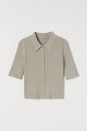 H&M Rib-knit shirt - Grey