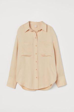 H&M Women Long Sleeve - Oversized lyocell-blend shirt
