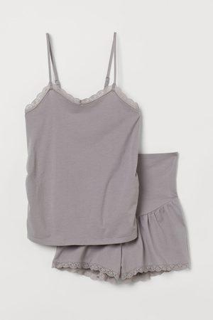 H&M MAMA Cotton jersey pyjamas - Grey