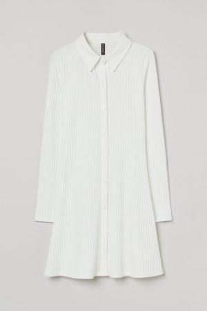 H&M Ribbed shirt dress