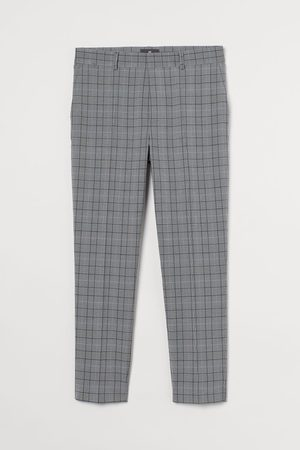H&M Slim Fit Cropped trousers - Grey