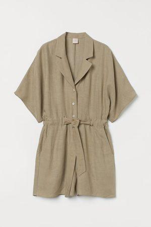 H&M Linen-blend playsuit