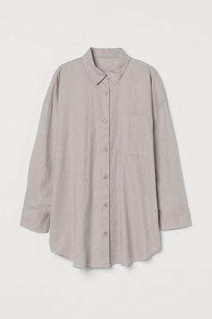 H&M Linen-blend nightshirt - Grey