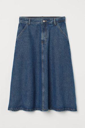 H&M Women Denim Skirts - Knee-length denim skirt