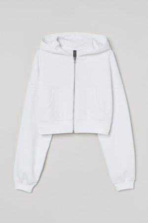H&M Women Hoodies - Cropped zip-through hoodie