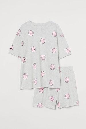 H&M Women Pyjamas - Cotton jersey pyjamas - Grey