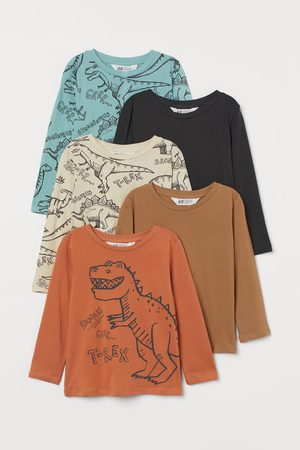 H&M 5-pack printed jersey tops