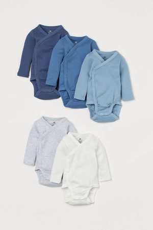 H & M Rompers - 5-pack wrapover bodysuits