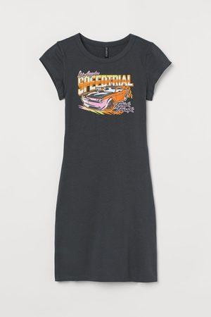 H&M Short printed dress - Grey