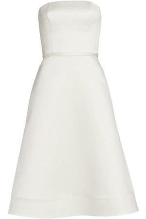 Amsale Duchesse Satin Strapless Dress