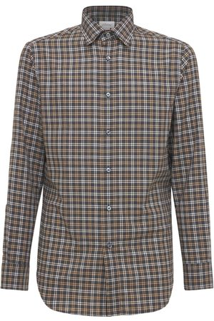 BRIONI Check Cotton Shirt