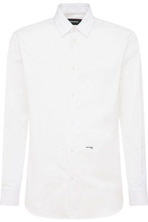 Dsquared2 Relaxed Dan Logo Cotton Poplin Shirt