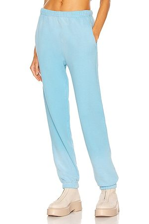 RE/DONE Women Sports Trousers - 80's Sweatpant in Faded Sky