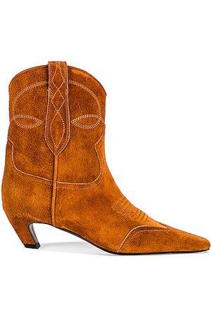 Khaite Dallas Ankle Boots in Caramel