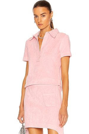 Helmut Lang Women Polo Shirts - Towel Terry Polo Top in Orchid