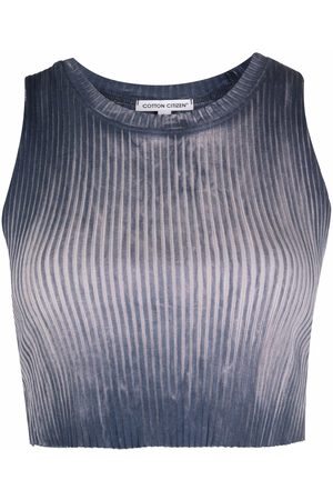 Cotton Citizen Distressed ribbed cropped tank top