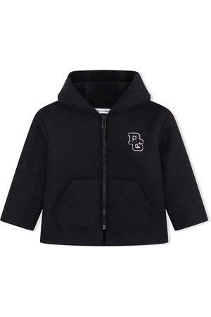 Dolce & Gabbana Logo-letter zipped coat