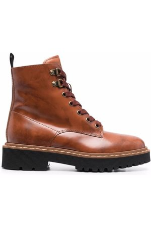 Hogan Lace-up leather ankle boots