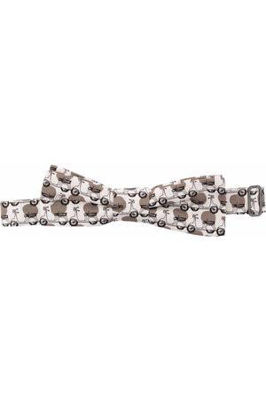 Dolce & Gabbana Vespa-print cotton bow tie