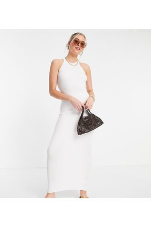 Missguided Maxi dress with halter neck in