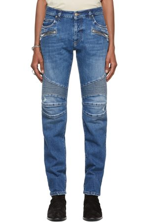 Men Tapered - Balmain Ribbed Tapered Jeans