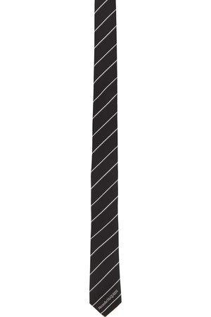 Men Neckties - Alexander McQueen & Silk Ruled Logo Tie