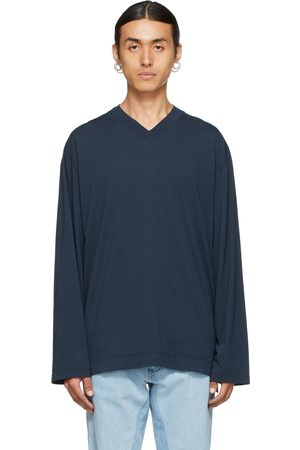 Our Legacy Navy Box V-Neck Sweater