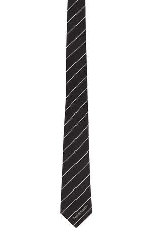 Alexander McQueen & Silk Ruled Logo Tie