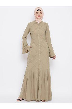 MOMIN LIBAS Women Beige Self-Design Abaya Burqa