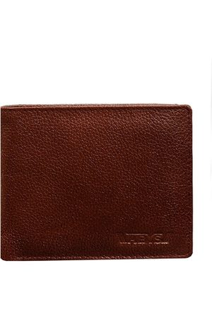 ABYS Men Brown Textured Leather Two Fold Wallet