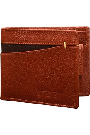 ABYS Men Brown Textured Leather Three Fold Wallet
