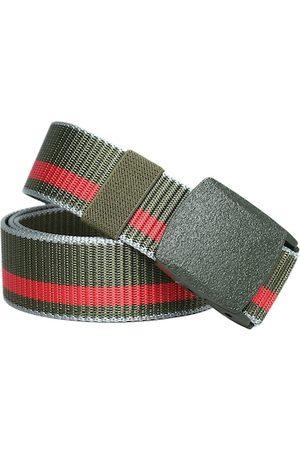 Kastner Men Belts - Men Olive Green Striped Belt