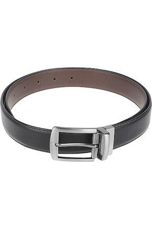 Kastner Men Black Textured Reversible Formal Belt