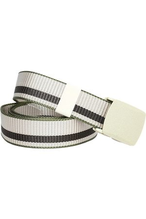 Kastner Men Beige Striped Belt
