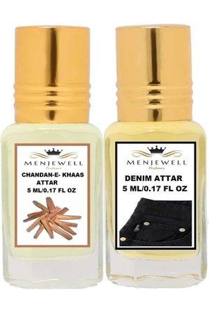 Menjewell Unisex Chandan-E-khaas & Denim Attar Perfume-Set of 2(5ml each)