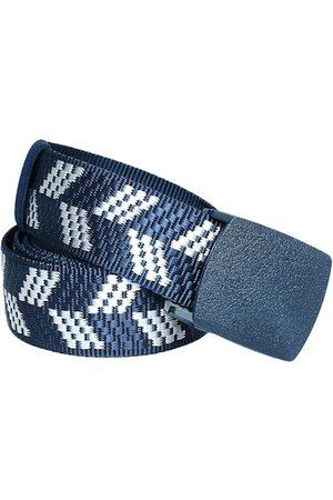 Kastner Men Blue & White Woven Design Belt