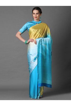 Mitera Blue & Yellow Tie and Dye Saree