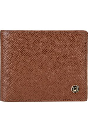 Da Milano Men Brown Textured Leather Two Fold Wallet
