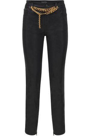 Tom Ford Women Slim Trousers - Shiny Lacquered Denim Skinny Pants