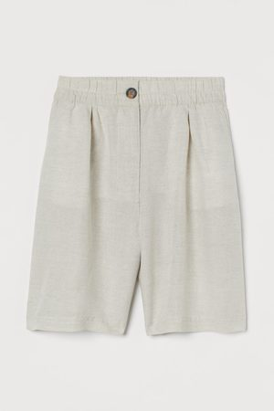 H&M Linen-blend Bermuda shorts